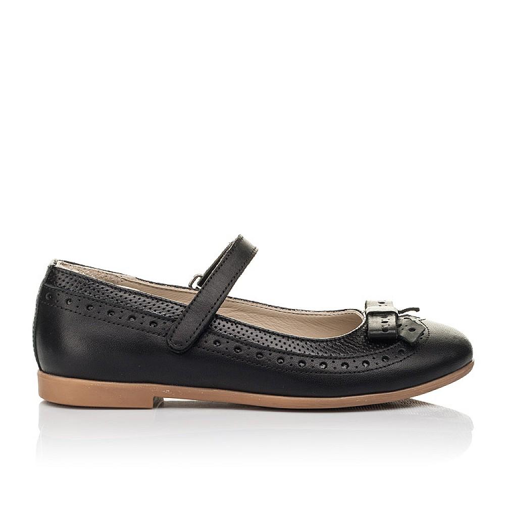 Детские туфли Woopy Fashion черные для девочек натуральная кожа размер 28-35 (5014) Фото 4