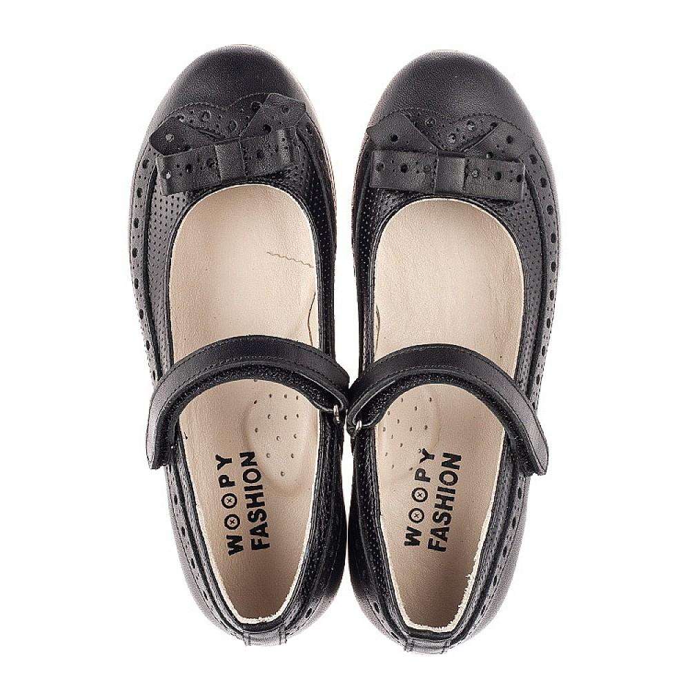Детские туфли Woopy Fashion черные для девочек натуральная кожа размер 28-35 (5014) Фото 5