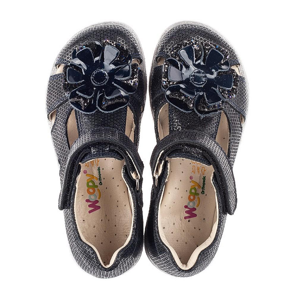 Детские закрытые босоножки Woopy Fashion темно-синие для девочек натуральный нубук размер 26-35 (5015) Фото 5