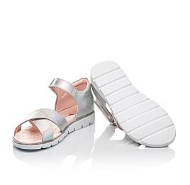 Детские босоножки Woopy Fashion серебряные для девочек натуральная кожа размер 21-35 (5017) Фото 2