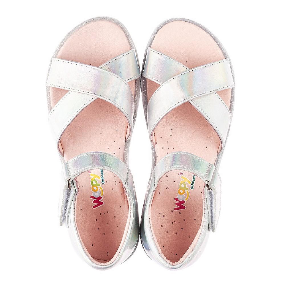 Детские босоножки Woopy Fashion серебряные для девочек натуральная кожа размер 21-36 (5017) Фото 5