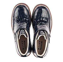 Детские демісезонні черевики (підкладка шкіра) Woopy Fashion синие для девочек лаковая кожа размер 29-38 (5019) Фото 2