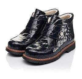 Детские демісезонні черевики (підкладка шкіра) Woopy Fashion синие для девочек лаковая кожа размер 29-38 (5019) Фото 4