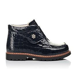 Детские демісезонні черевики (підкладка шкіра) Woopy Fashion синие для девочек лаковая кожа размер 29-38 (5019) Фото 5