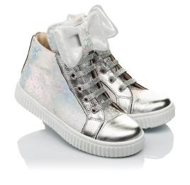 Детские демисезонные ботинки (подкладка кожа) Woopy Fashion серебряные для девочек натуральный нубук размер 24-35 (5020) Фото 1