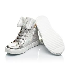 Детские демисезонные ботинки (подкладка кожа) Woopy Fashion серебряные для девочек натуральный нубук размер 24-35 (5020) Фото 2