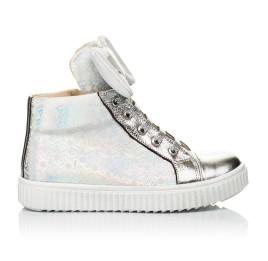 Детские демисезонные ботинки (подкладка кожа) Woopy Fashion серебряные для девочек натуральный нубук размер 24-35 (5020) Фото 4