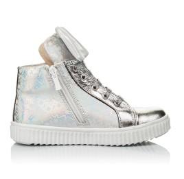 Детские демисезонные ботинки (подкладка кожа) Woopy Fashion серебряные для девочек натуральный нубук размер 24-35 (5020) Фото 5