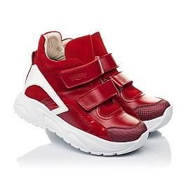 Детские демисезонные ботинки (подкладка кожа) Woopy Fashion красные для девочек натуральная кожа, нубук и замша размер 28-38 (5021) Фото 1