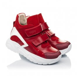 Детские демісезонні черевики (підкладка шкіра) Woopy Fashion красные для девочек натуральная кожа, нубук и замша размер 28-38 (5021) Фото 1
