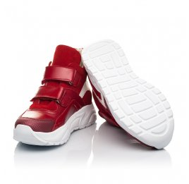 Детские демісезонні черевики (підкладка шкіра) Woopy Fashion красные для девочек натуральная кожа, нубук и замша размер 28-38 (5021) Фото 2