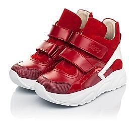 Детские демисезонные ботинки (подкладка кожа) Woopy Fashion красные для девочек натуральная кожа, нубук и замша размер 28-38 (5021) Фото 3
