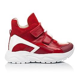 Детские демисезонные ботинки (подкладка кожа) Woopy Fashion красные для девочек натуральная кожа, нубук и замша размер 28-38 (5021) Фото 4