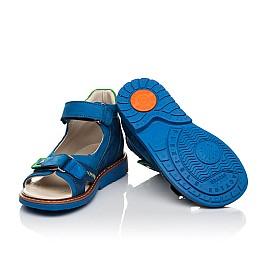 Детские босоножки Woopy Orthopedic синие для мальчиков натуральный нубук размер 27-36 (5023) Фото 2