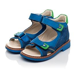 Детские босоножки Woopy Orthopedic синие для мальчиков натуральный нубук размер 27-36 (5023) Фото 3