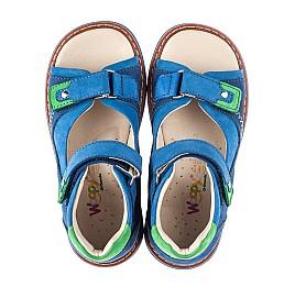 Детские босоножки Woopy Orthopedic синие для мальчиков натуральный нубук размер 27-36 (5023) Фото 5