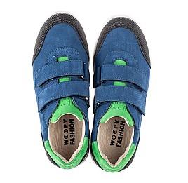 Детские кеды Woopy Fashion синие для мальчиков натуральный нубук размер 29-39 (5025) Фото 5