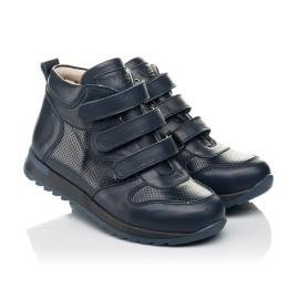 Детские демисезонные ботинки (подкладка кожа) Woopy Fashion синие для мальчиков натуральная кожа размер 22-39 (5027) Фото 1