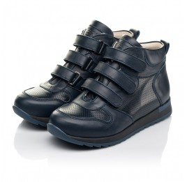 Детские демісезонні черевики (всередині шкіра) Woopy Fashion синие для мальчиков натуральная кожа размер 22-39 (5027) Фото 3