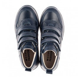 Детские демісезонні черевики (всередині шкіра) Woopy Fashion синие для мальчиков натуральная кожа размер 22-39 (5027) Фото 5