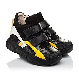 Детские демисезонные ботинки (подкладка кожа) Woopy Fashion черные для мальчиков натуральная кожа, нубук и замша размер 25-38 (5028) Фото 1