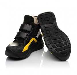 Детские демисезонные ботинки (подкладка кожа) Woopy Fashion черные для мальчиков натуральная кожа, нубук и замша размер 25-38 (5028) Фото 2
