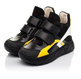 Детские демісезонні черевики (підкладка шкіра) Woopy Fashion черные для мальчиков натуральная кожа, нубук и замша размер 25-38 (5028) Фото 3