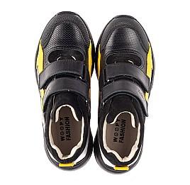 Детские демисезонные ботинки (подкладка кожа) Woopy Fashion черные для мальчиков натуральная кожа, нубук и замша размер 25-38 (5028) Фото 5