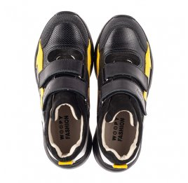 Детские демісезонні черевики (підкладка шкіра) Woopy Fashion черные для мальчиков натуральная кожа, нубук и замша размер 25-38 (5028) Фото 5