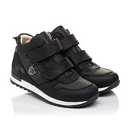 Детские демісезонні черевики (всередині шкіра) Woopy Fashion черные для девочек натуральный нубук и искусственный материал размер 28-39 (5029) Фото 1