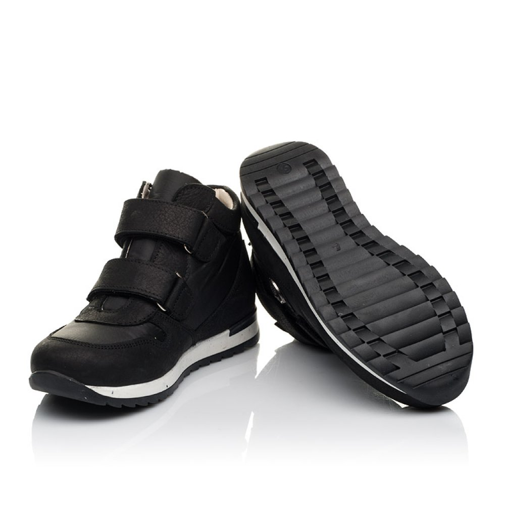 Детские демисезонные ботинки (подкладка кожа) Woopy Fashion черные для девочек натуральный нубук и искусственный материал размер 28-39 (5029) Фото 2