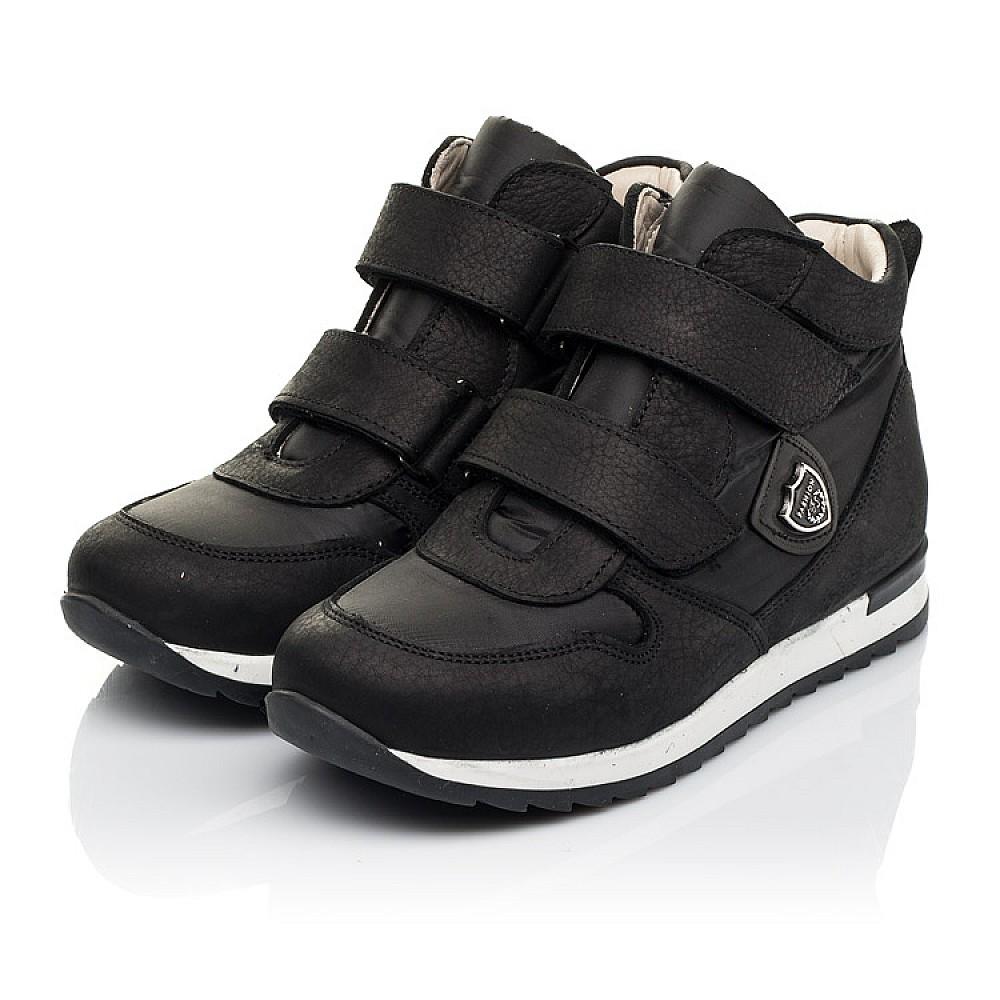 Детские демисезонные ботинки (подкладка кожа) Woopy Fashion черные для девочек натуральный нубук и искусственный материал размер 28-39 (5029) Фото 3
