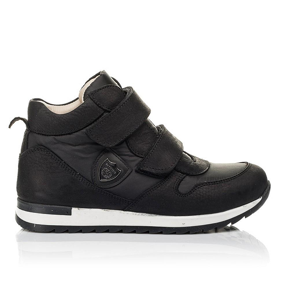 Детские демисезонные ботинки (подкладка кожа) Woopy Fashion черные для девочек натуральный нубук и искусственный материал размер 28-39 (5029) Фото 4