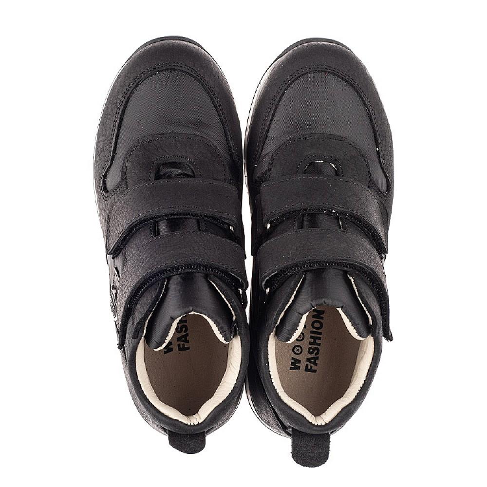 Детские демисезонные ботинки (подкладка кожа) Woopy Fashion черные для девочек натуральный нубук и искусственный материал размер 28-39 (5029) Фото 5