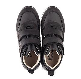 Детские демісезонні черевики (всередині шкіра) Woopy Fashion черные для девочек натуральный нубук и искусственный материал размер 28-39 (5029) Фото 5