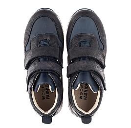 Детские демісезонні черевики (всередині шкіра) Woopy Fashion синие для девочек нубук OIL, водонепроницаемая плащевка размер 21-39 (5030) Фото 5