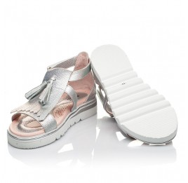 Детские босоножки Woopy Fashion серебряные для девочек натуральная кожа размер 26-36 (5032) Фото 2