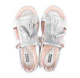 Детские босоножки Woopy Fashion серебряные для девочек натуральная кожа размер 26-36 (5032) Фото 5