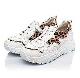 Детские кроссовки Woopy Fashion белые для девочек натуральная кожа размер 34-40 (5033) Фото 3