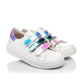 Детские кеды Woopy Fashion белые для девочек натуральная кожа размер 27-38 (5034) Фото 1