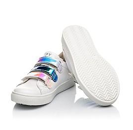 Детские кеды Woopy Fashion белые для девочек натуральная кожа размер 27-38 (5034) Фото 2