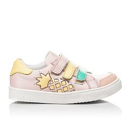Детские кеды Woopy Fashion пудровые для девочек натуральная кожа размер 24-33 (5035) Фото 4