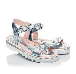 Детские босоножки Woopy Fashion серебряные для девочек натуральная кожа размер 30-36 (5037) Фото 1