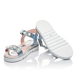 Детские босоножки Woopy Fashion серебряные для девочек натуральная кожа размер 30-36 (5037) Фото 2