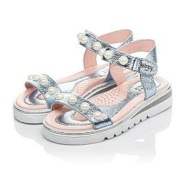 Детские босоножки Woopy Fashion серебряные для девочек натуральная кожа размер 30-36 (5037) Фото 3