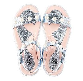 Детские босоножки Woopy Fashion серебряные для девочек натуральная кожа размер 30-36 (5037) Фото 5