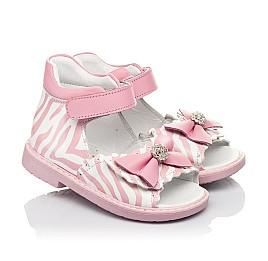 Детские босоножки Woopy Orthopedic розовые для девочек натуральная кожа размер 19-23 (5038) Фото 1
