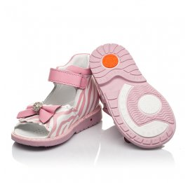 Детские босоножки Woopy Orthopedic розовые для девочек натуральная кожа размер 19-23 (5038) Фото 2