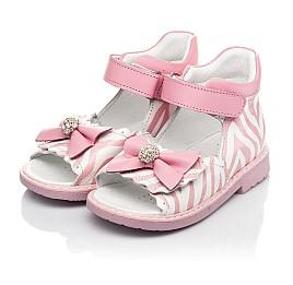 Детские босоножки Woopy Orthopedic розовые для девочек натуральная кожа размер 19-23 (5038) Фото 3