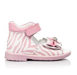 Детские босоножки Woopy Orthopedic розовые для девочек натуральная кожа размер 19-23 (5038) Фото 4